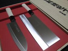 Japanese Chef's Knife/a set of 2 Kitchen knives/Noodles(Udon)/Santoku/Sashimi