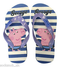 1 Pair George Peppa Pig flip flops beach sandals shoe for Boys, thongs