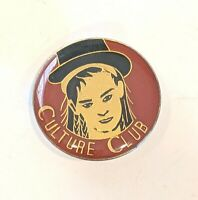 "CULTURE CLUB Vintage 80s Pinback Lapel Pin 1 1/8"" wide * Combine Shipping!"