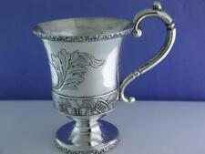 Early Coin Silver Cup Gerardus Boyce New York c1814-1854 sheaf of wheat