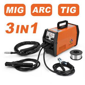 3 in1 MIG Welder 110V 220V Gasless Stick ARC LIFT TIG MIG Welding Machine 120A