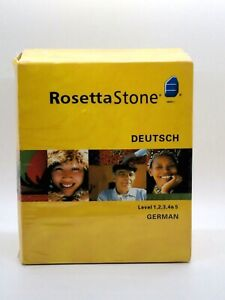Rosetta Stone German Levels 1-5 Comprehensive Language Learning System New