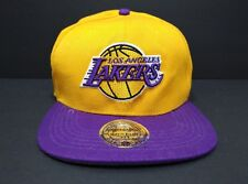 Los Angeles Lakers HWC XL Logo Yellow Snapback Mitchell and Ness NBA