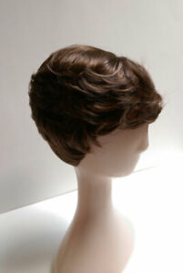 Short Wig Light Brown Straight Wavy Synthetic Fashion Women Ladies Hair Cosplay