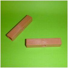 Playmobil Ersatzteil - 2 x Verbinder kurz klein braun 7,5 x 1,5 cm - System X