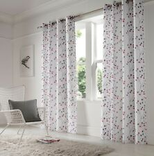 """Berry Purple Embroidered Voile  lined curtains,less than 1/2 price, 56""""x 90"""""""