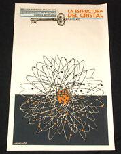 """1976 Original Cuban Movie Poster""""Crystal Structure""""Handmade Silkscreen Art"""