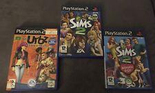 Lot Jeux Les Sims : Les Urbz + Les Sims 2 + Les Sims 2 Animaux Et Cie Ps2