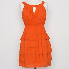 Maeve Anthropologie Orange Cotton Tiered Sundress Size 2