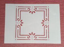 2001 Schablone Muster Vintage Stanzschablone Malschablone Wandtattoo Wandbilder