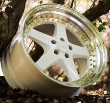 """18"""" ESR SR04 18x8.5 +30 5X100 For Dodge Neon SRT4 White Rims Set (4)"""
