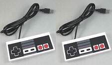 USA SELLER: New NES Nintendo Entertainment Controller for PC USB LOT OF 2 PCS