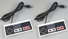 USA New NES Nintendo Entertainment Controller for PC & MAC USB LOT OF 2 PCS