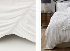 New Anthropologie King Georgina Bed Skirt In White