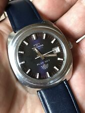 Vintage Technos Blue Sky All Steel Automatic Mens Watch 36,5mm ETA 2783
