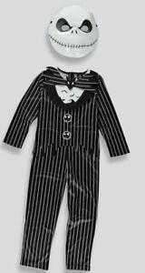 KIDS DISNEY JACK SKELLINGTON FANCY DRESS COSTUME OUTFIT BOOK DAY  6-7 Yrs Bnwt
