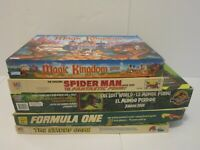 5 Vtg Board Games Jurassic Park +Formula One + Smurfs + Spiderman+ Disney Magic