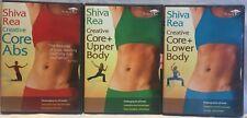 3 Shiva Rea Creative Core Abs DVD set Upper Lower Body flow Shavansana Vinyasa