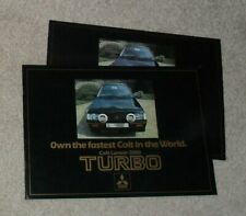 Mitsubishi Colt Lancer 2000 Turbo Brochure & Price List 1981-1982 - UK Issue