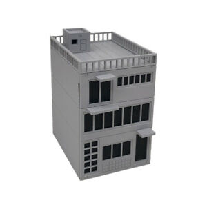 Outland Models Scenery Miniature Building 3-Story City Shop 1:72