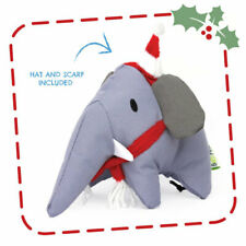 DOG TOY, Christmas Elephant with squeaker, Eco-Friendly, Recycled Material, Beco