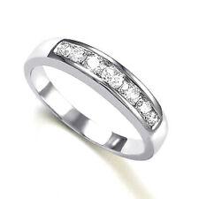 14k White Gold Wedding Band Diamond Ring #R782
