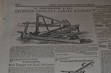1865 *EARLY* Westinghouse Ad, Improved Cross Cut Sawing Machine Albany Newspaper