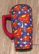 Superman Super Hero Ceramic Travel Mug with Lid 16 Ounce Coffee Tea Latte