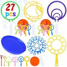 INNOCHEER Giant Bubble Wand Set Big Bubble Maker Toy for Kids and Adults Fun set