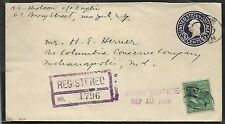 Usa 1948 Registered Cover From New York, Ny To Indianapolis In