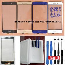 PANNELLO ANTERIORE ESTERNO VETRO + Touch Screen per Huawei Honor 8 Lite PRA-AL00X TL10 3M