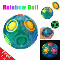 Magic Rainbow Fun Ball Puzzle Rubik's Cube Toy Autism Brain Stress Relief Gift