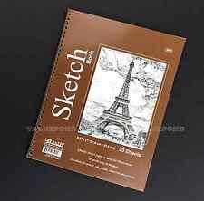 "30 Sheets 8.5"" X 11"" Side Bound Spiral Premium Sketch Book Paper Pad NEW (E10)"