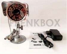Telecamera videosorveglianza CCD  Lente 3,6mm 36led infrarossi. Analogica CCTV