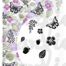 New Card-io Majestix Clear Stamps Peg Stamps Apple Blossom