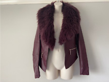 Leatherette Jacket By Relish. Detachable Faux Fur Collar. Size Small