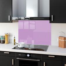 Shades Of Purple Toughened Glass Kitchen Splashback Panels Any Size & Colour