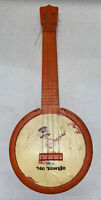 Vintage MCM Emenee Mr. Banjo Collectible Toy Orange Stringed Instrument Free Shp