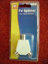 CO AXE SPLITTER  NEW ACCESSORIES ARIEL SPLITTER coax fitting FREE UK P+P