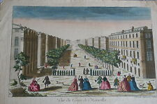 18th century Optical View MARSEILLE FRANCE handcolored