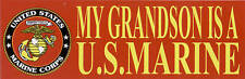 2 TWO MY GRANDSON IS US MARINE BUMPER STICKER DECAL ZAP MOM DAD SON DAUGHTER MR