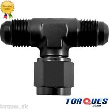 AN -12 (12AN AN12) Flare Tee Adapter With Female On Side Black