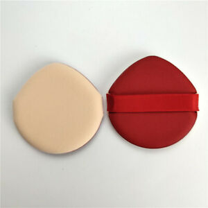 1PC Soft Powder Puff Velour Baby Body Makeup Puff with Satin Ribbon Sealed