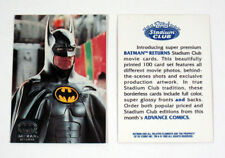 "1992 ADVANCED COMICS ""BATMAN RETURNS"" PROMO TRADING CARD - V/GOOD CONDITION"