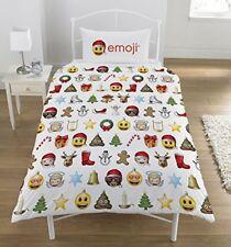 Noël Emoji Set Housse de couette Simple Emoticons Smiley Enfants