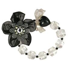 Tarina Tarantino Floriculture Floral Black Tulle Bracelet *Made in California*