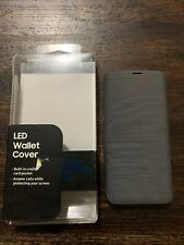 Samsung LED WALLET COVER for Samsung Galaxy S9 (Black) EF-NG960 PREOWNED!