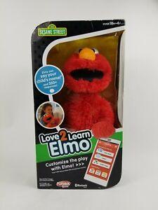 Love 2 Learn Elmo Interactive Talking Bluetooth Toy Playskool Sesame Street Rare