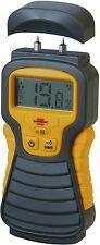 """2 PIN """"LCD Digital DAMP moisture Tester Detector Meter Plaster Wood Metal Cement"""