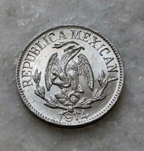 1914 Durango Mexico 1 Centavo. Gem Uncirculated. Aluminium Revolutionary Coinage